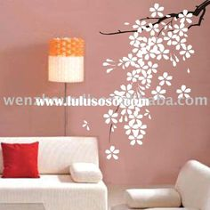 wall sticker decal decorations ideas pegatina acr lica dise floral para paredes