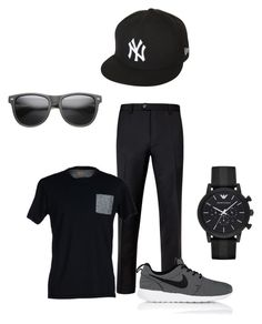 Teen style by katelyn-sours-shrieve on Polyvore featuring polyvore, SELECTED, Ted Baker, NIKE, Emporio Armani, New Era, men's fashion, menswear and clothing