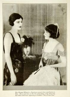 1920 Print Mrs. Morgan Belmont Lillian Gish Silent Film Griffith Way Down YPP1