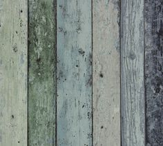 Nonwoven Wallpaper Scrap wood Green/Blue at Wallpaperwebstore Green Barn, Sea Colour, Antique Tea Cups, Wallpaper Online, Blue Beach, High Quality Wallpapers, Wood Background, Weathered Wood, Wood Texture