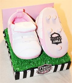 My First cleats - Little Girl Gift $24.95 | www.sabiboutique.com