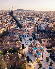 View from the top ~ Barcelona, Spain Photo: Congrats! - Best Places to Visit X Visit Barcelona, Barcelona Travel, Barcelona Catalonia, Cool Places To Visit, Places To Go, Paris Itinerary, Ibiza, Spain And Portugal, Paris Travel