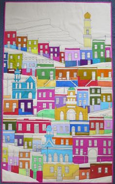 House quilt by Gillian Travis (UK)