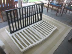 How to Make a Bench Using a Baby Crib - DIY for Life