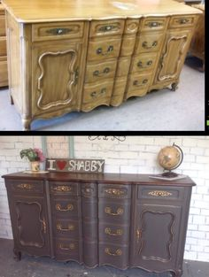 French provincial sideboard redo