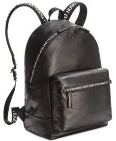 bb0b2de6827 Hugo Boss Men s National Leather Backpack - Black Leather Backpack For Men,  Leather Backpacks,