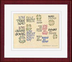 Corinthians Rosewood Framed Print