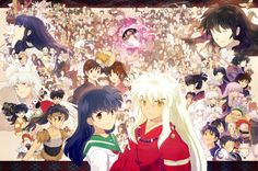 All the Inuyasha characters. I seriously love this. Can you name them all?