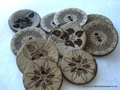 Mixed Pack of Coconut Buttons  Pack of 10 by berrynicecrafts, £1.40