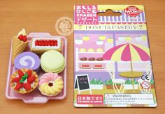 Gommes kawaii japonaises IWAKO / Iwako eraser en forme de miniature gateaux patisserie - www.chezfee.com - Boutique kawaii français