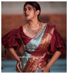 Sari Blouse, Latest Saree Blouse, Latest Silk Sarees, Indian Blouse, Indian Saris, Blouse Neck, Ruffle Blouse, New Blouse Designs, Silk Saree Blouse Designs