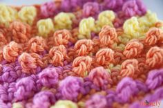 -Picot Crochet único y el modelo de la puntada de gránulos - video tutorial de fotos!