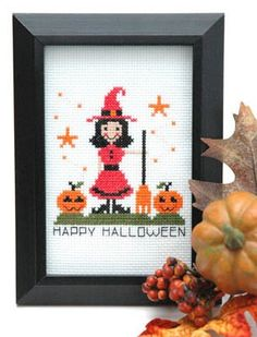 """""""Cute Witchl is the title of this cross stitch pattern from Tiny Modernist, Inc and she is cute!"""
