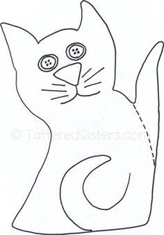 free primitive patterns | Primitive Cat Pattern | Tattered Sisters Primitives
