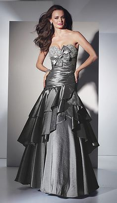 Silver is a chic, classy, and unique color for prom. Description from prommafia.com. I searched for this on bing.com/images