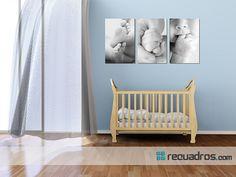 close up de tu bebé y fotos a blanco y negro hacen un detalle increíble para el cuarto de tu bebé Decoracion con detalles creativos, diferentes y personalizados !!! ;) by www.recuadros.com