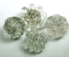 Antique Charmstring Glass Buttons