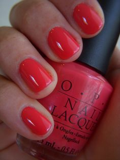 My most favorite nail color ever! It's the perfect coral color. OPI My Chihuahua Bites.