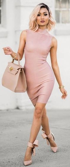 #Street #Fashion | Blush + Nude Spring Outfit idea | Micah Gianneli