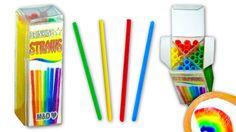 Cómo hacer pajitas o popotes para beber y su caja de plástico - DIY Tuto...