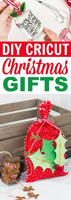 Birthday Gifts for Teenagers I love Christmas crafts and these DIY Cricut Christmas Gifts are perfect to make this holiday season. These are great Homemade Christmas Gift Ideas. Christmas Gifts For Teenagers, Creative Christmas Gifts, Crochet Christmas Gifts, Family Christmas Gifts, Diy Holiday Gifts, Diy Gifts For Kids, Homemade Christmas Gifts, Christmas Crafts For Kids, Christmas Diy