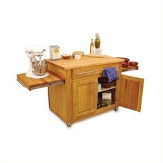 Lowest price online on all Catskill Craftsmen Empire Mobile Butcher Block Kitchen Cart in Natural Finish - 1480