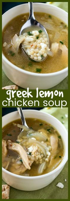 Greek Lemon Chicken Soup | Posted By: DebbieNet.com