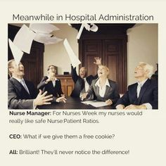 Meanwhile in hospital administration. . .