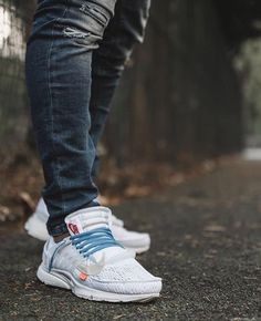 Might see a few WTB blue laces post . Buy Sneakers, Air Max Sneakers, Off White Presto, Blue Lace, Hypebeast, Gentleman, Nike Air Max, Kicks, Vans