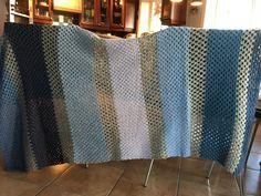 crochet blanket whit a pillow