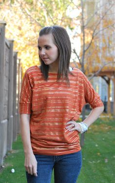 Merrick's Art // Style + Sewing for the Everyday Girl: Dolman Sleeve Top (Tutorial)