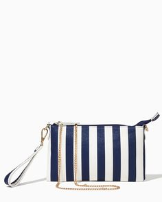 Complete your look with this nautical inspired wristlet! | Perrin Stripe Two-way Wristlet | UPC: 450900364694 #charmingcharlie