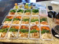 """Food preparation for the week. They say """"if you fail to plan, you'll plan to fail."""" Here's some great options for HEALING MEALS this week --"""
