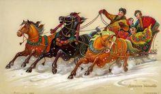 тройка лошадей картинки: 19 тыс изображений найдено в Яндекс.Картинках