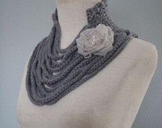 Crochet bufanda bufanda hecha a mano bufanda de la por deniz03