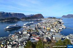 Πόλη Alesund γραφικό