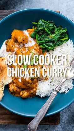 The easiest chicken curry you will ever make in your slow cooker! Slimming friendly and delicious.