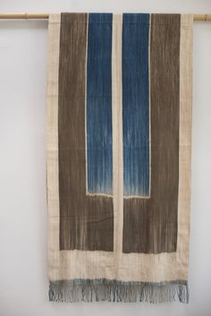 Indigo ikat textile