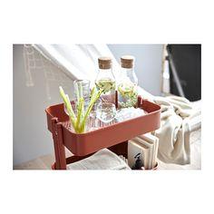 RÅSKOG Utility cart, red/brown
