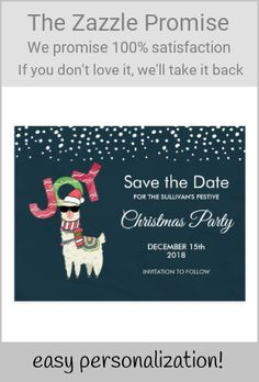 Shop Llama wearing a Santa Hat Christmas Save the Date Postcard created by Mirribug. Personalize it with photos & text or purchase as is! Christmas Save The Date, Holiday Cards, Christmas Cards, Llama Christmas, American Animals, Cute Llama, Dark Blue Background, Cute Pillows, Save The Date Postcards