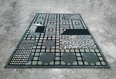 Tapigris Rugs by Nathalie du Pasquier for Le Chance Paper Vase, Paper Clay, Textiles, Textile Patterns, Lamp Design, Fabric Design, Rugs On Carpet, Carpets, Nathalie Du Pasquier