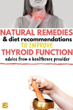 Check out info and ideas for improving thyroid function with natural remedies and easy dietary changes. Tons of info and advice from a holistic healthcare practitioner to help you FEEL better fast! Natural Hemroid Remedies, Natural Add Remedies, Natural Remedies For Migraines, Natural Treatments, Natural Healing, Holistic Healing, Natural Skin, Natural Antibiotics, Natural Foods