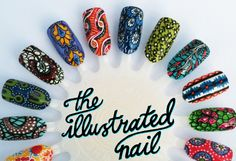 Ankara-Inspired nails | Illustrated Nail