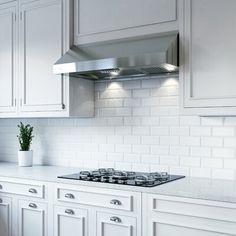 XO Appliance Professional 600 CFM Convertible Under Cabinet Range Hood Kitchen Redo, Kitchen Backsplash, Kitchen And Bath, New Kitchen, Kitchen Cabinets, Kitchen Ideas, Kitchen Makeovers, Backsplash Ideas, White Cabinets