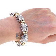 Mens Diamond Link Bracelet Two Tone Gold ct Gents Bracelet, Mens Diamond Bracelet, Men Bracelets, Bangles, African Wear, Jewellery Display, Lions, Bungalow, Men's Shoes