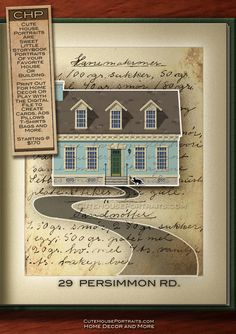 The ultimate realtor's closing gift for buyers: an adorable house portrait.