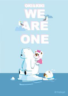 #OKI&KIKI# #We are one# #OK熊很OK# #Rare animal# #Protect animal# #Polar bear# #保护动物# #珍稀动物# #北极熊#