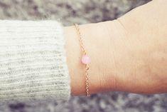 Pink Jade Bracelet | Single Bead Bracelet | Rose Gold Bracelet | Healing Bracelet Handmade Bracelets, Beaded Bracelets, Jade Bracelet, Healing Bracelets, Men Necklace, Anklet, Swarovski Crystals, Rose Gold, Gemstones
