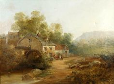 Andrew Andrews (1837-?) ~  Landscape With Mill
