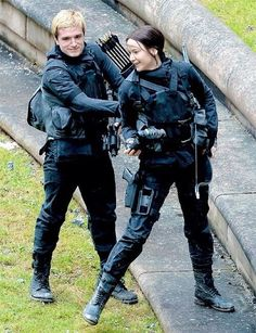"""The Hunger Games - Mockingjay"""" Peeta's hair looks blonder they must of bleached it in the- I've said to much."""